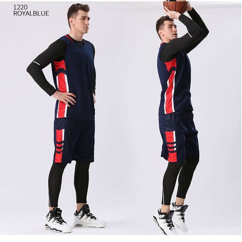 1 4PCS Set Winter Basketball Jersey With Compression Tights Mens Sports Tights Sports Jerseys Basketball Shirt Fitness
