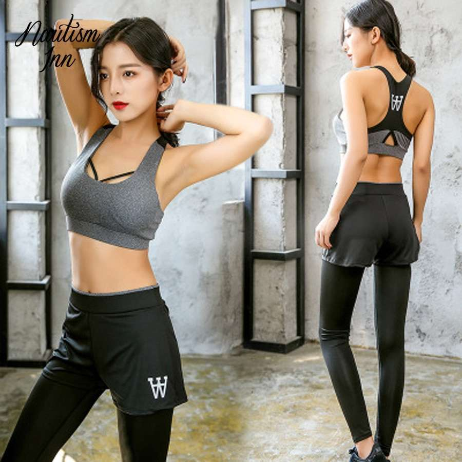 5 Pcs Sport Wear Women Gym Fitness Clothing Tennis Sport Suit Breathable Tracksuit Workout Running Clothes 4