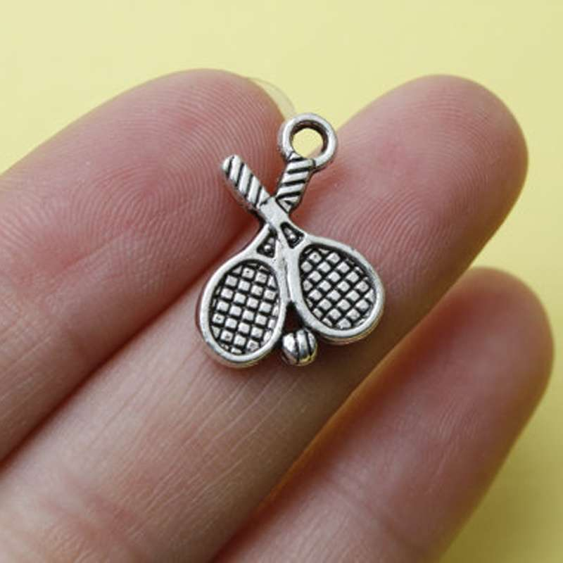 Fashion Tennis Racket Pendant Necklace Sports Lover Gifts BFF Tennis Player Gift Jewelry For Women Men 4