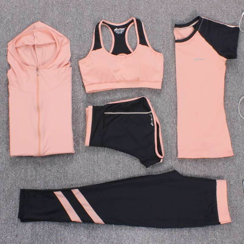 New Yoga Suits Women Gym Clothes Fitness Running Tracksuit Sports Bra Sport Leggings Yoga Shorts Top 1