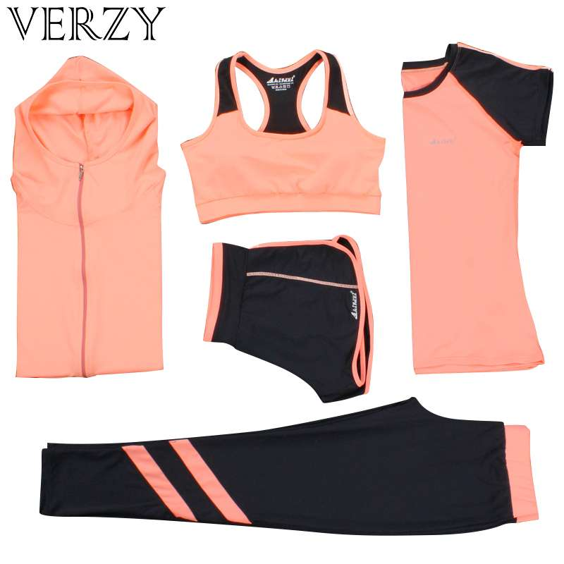 New Yoga Suits Women Gym Clothes Fitness Running Tracksuit Sports Bra Sport Leggings Yoga Shorts Top