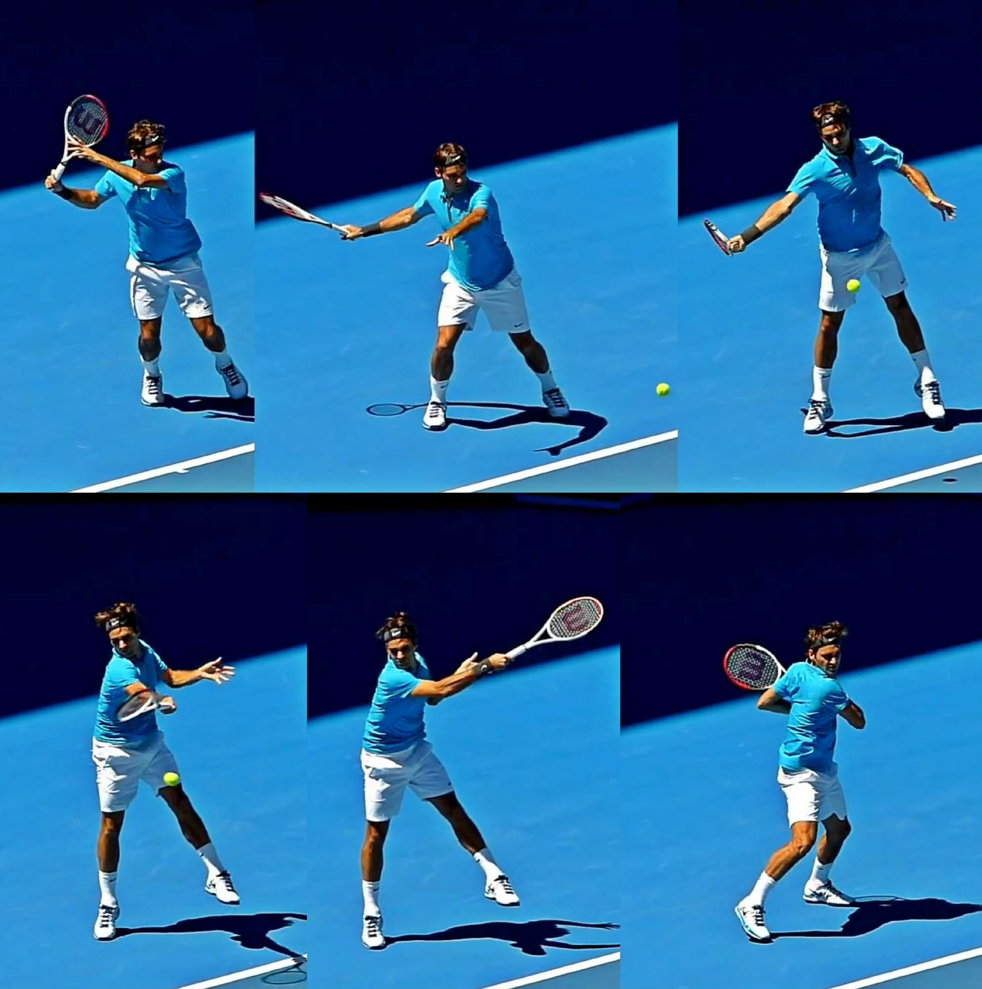 Federer Forehand Action Sequence 42