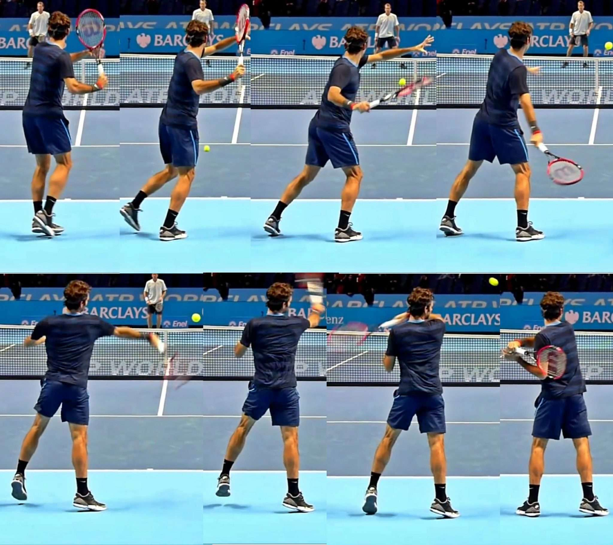 Federer Forehand Action Sequence 46