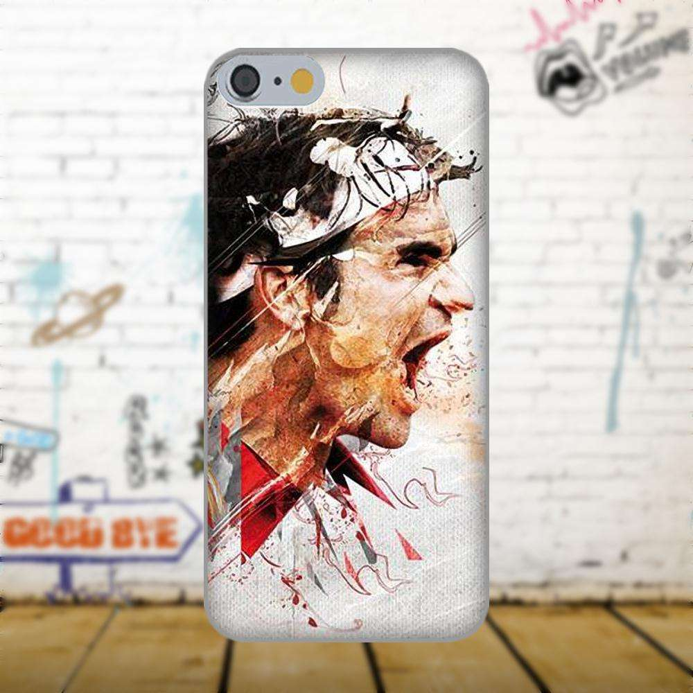 Oedmeb Tennis Star Roger Federer Poster For Apple iPhone 4 4S 5 5C 5S SE 6 as picture 1