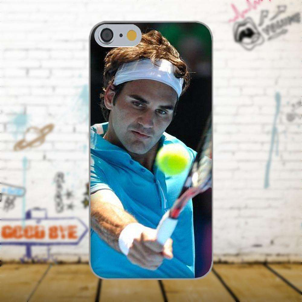 Oedmeb Tennis Star Roger Federer Poster For Apple iPhone 4 4S 5 5C 5S SE 6 as picture 2