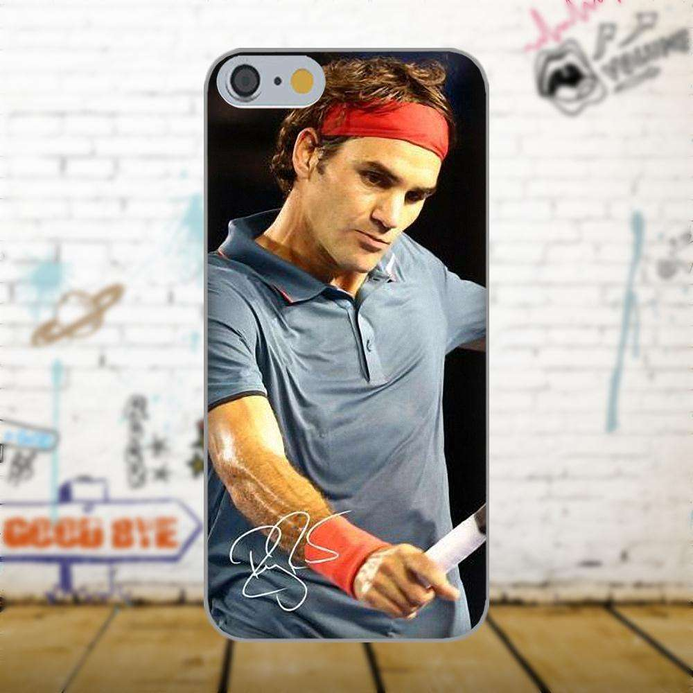 Oedmeb Tennis Star Roger Federer Poster For Apple iPhone 4 4S 5 5C 5S SE 6 as picture 3