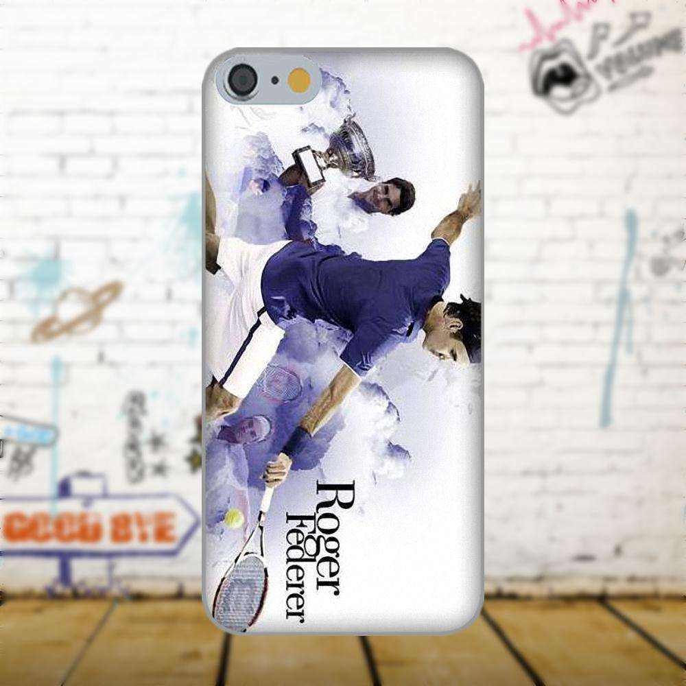 Oedmeb Tennis Star Roger Federer Poster For Apple iPhone 4 4S 5 5C 5S SE 6 as picture 6