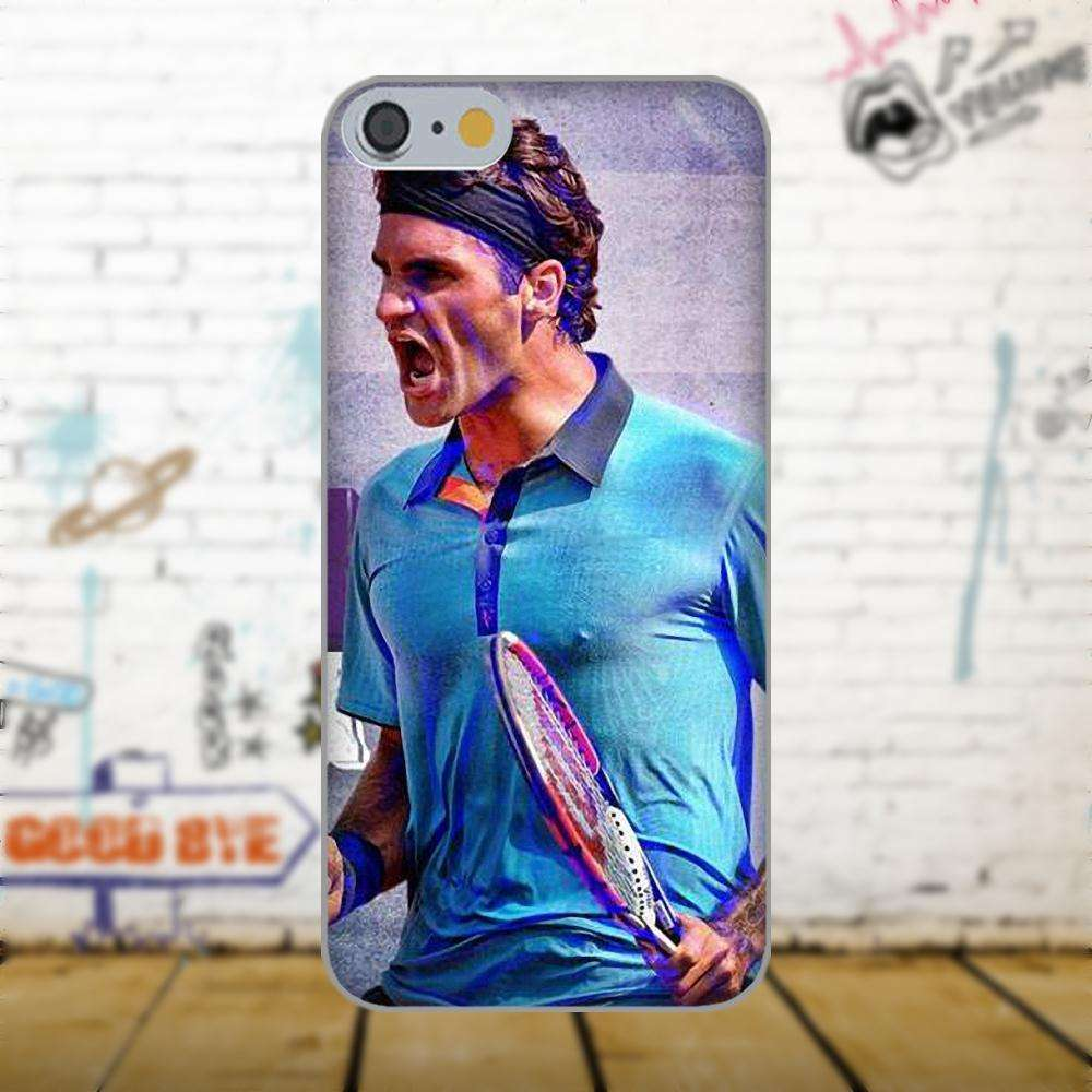 Oedmeb Tennis Star Roger Federer Poster For Apple iPhone 4 4S 5 5C 5S SE 6 as picture 8