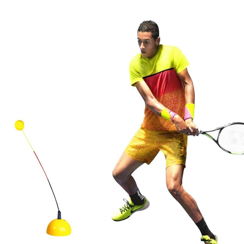 Portable Tennis Training Tool Professional Practice Trainer Stereotype Swing Ball Machine For Beginners Self study Accessories 2