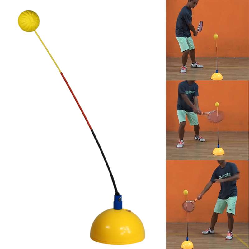 Portable Tennis Training Tool Professional Practice Trainer Stereotype Swing Ball Machine For Beginners Self study Accessories