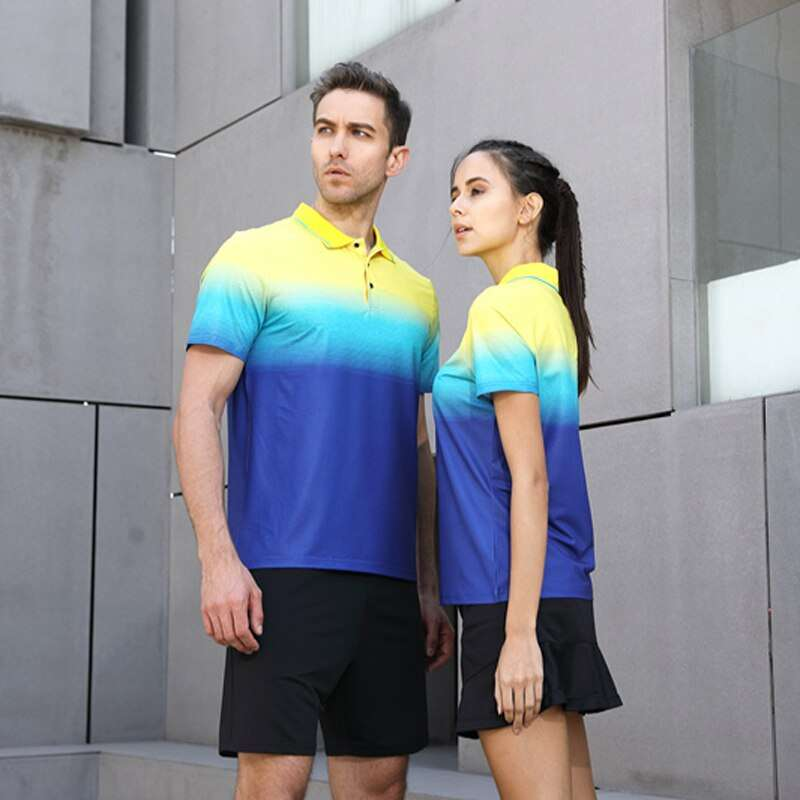 2018 New High Quality Running Sport Outdoor Quick Dry Train Breathable Badminton Shirt Women Men Table 2