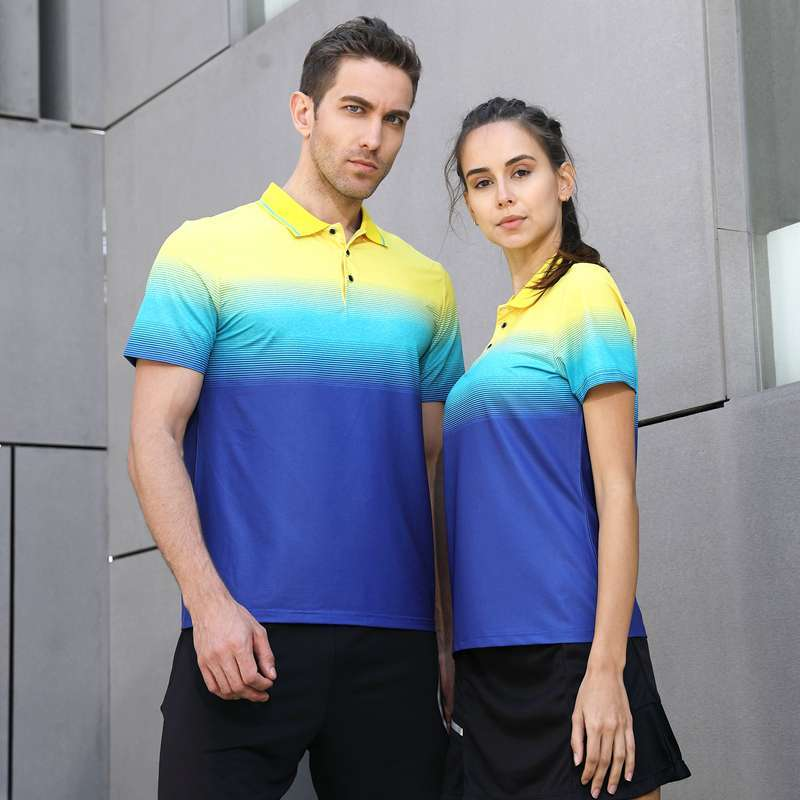 2018 New High Quality Running Sport Outdoor Quick Dry Train Breathable Badminton Shirt Women Men Table 3