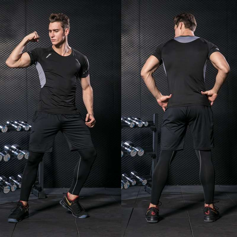 GYM Tights Sports Men s Compression Sportswear Suits training Clothes Suits workout jogging Sports clothing Tracksuit 1