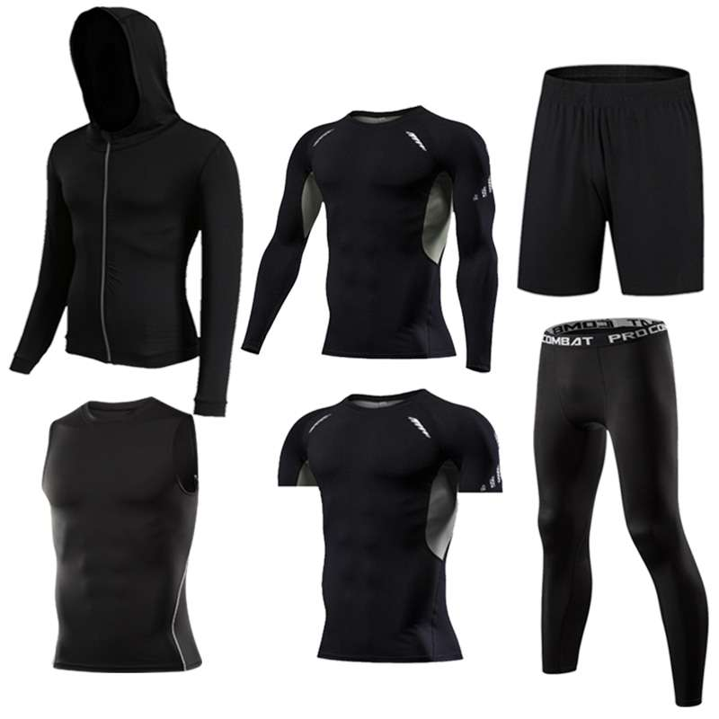 GYM Tights Sports Men s Compression Sportswear Suits training Clothes Suits workout jogging Sports clothing Tracksuit 2