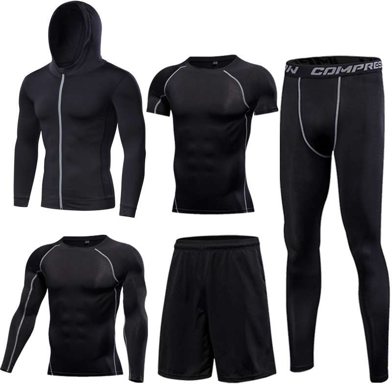 GYM Tights Sports Men s Compression Sportswear Suits training Clothes Suits workout jogging Sports clothing Tracksuit 3