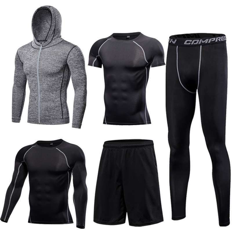 GYM Tights Sports Men s Compression Sportswear Suits training Clothes Suits workout jogging Sports clothing Tracksuit 4