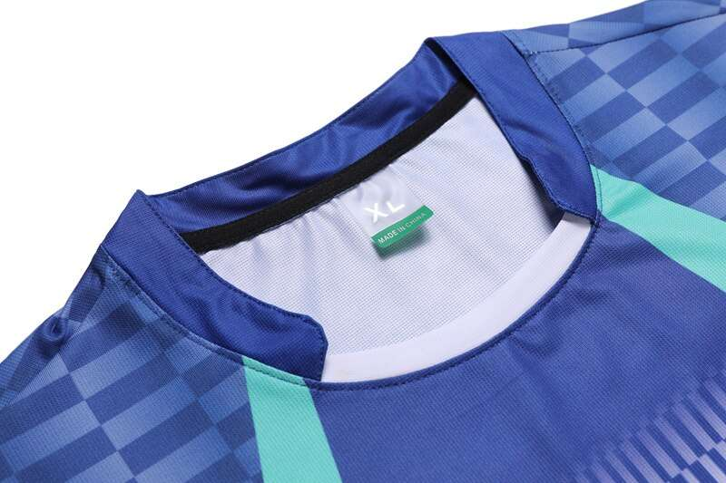 High Quality Blue Mens Running Sport Outdoor Fitness Gym Quick Dry Comfort Breathable Badminton Shirt Men 2