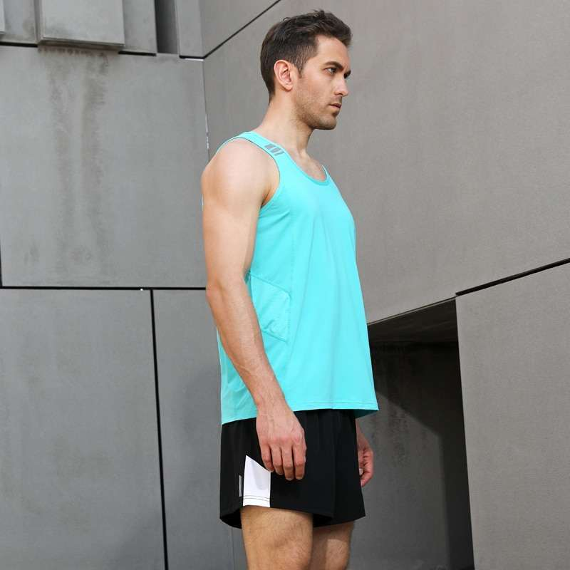 Men Sleeveless Sports Suit Running Vest and Shorts Jogging Fitness Tracksuit Quick drying Compression XS 3XL 2