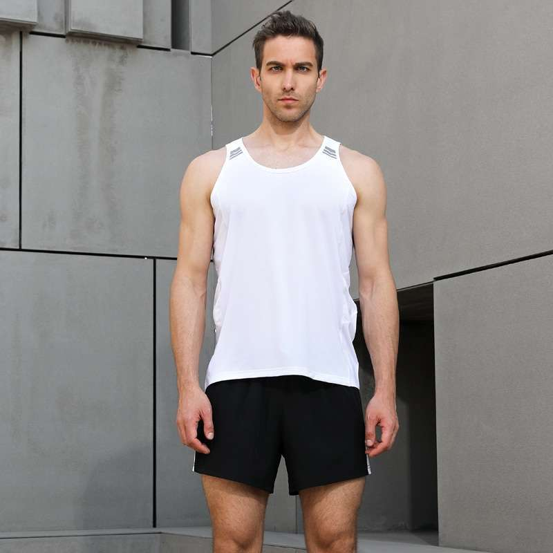 Men Sleeveless Sports Suit Running Vest and Shorts Jogging Fitness Tracksuit Quick drying Compression XS 3XL 3