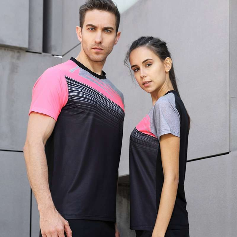 New High Quality Running Sport Outdoor Sweat Quick Dry Comfortable Breathable Badminton Shirt Women Men Table