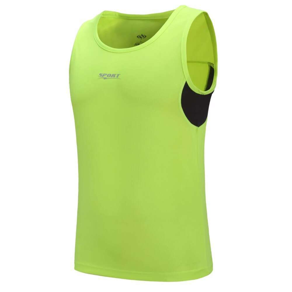 New Quickly Dry Mens Running Shirts Compression Tights Gym Tank Top Fitness Sleeveless T shirts Sport 1