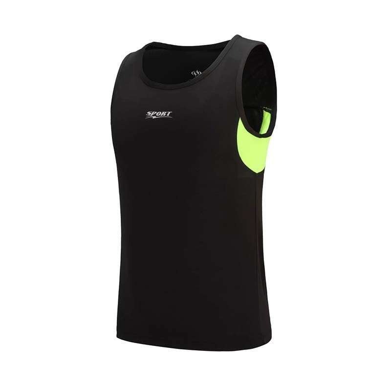 New Quickly Dry Mens Running Shirts Compression Tights Gym Tank Top Fitness Sleeveless T shirts Sport 5