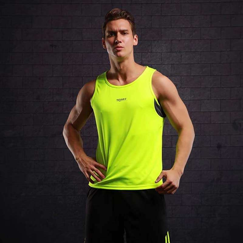 New Quickly Dry Mens Running Shirts Compression Tights Gym Tank Top Fitness Sleeveless T shirts Sport
