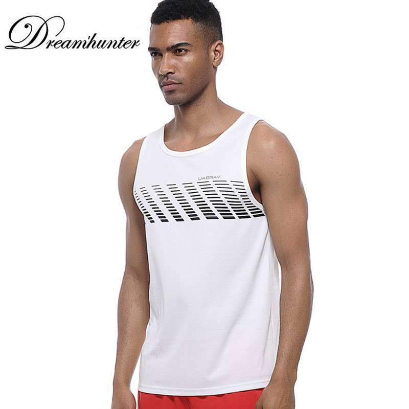 Quick Dry Sports Fitness Running Tank Tops Men Summer Vest Fitness Sleeveless Undershirts Male Gym Loose 2