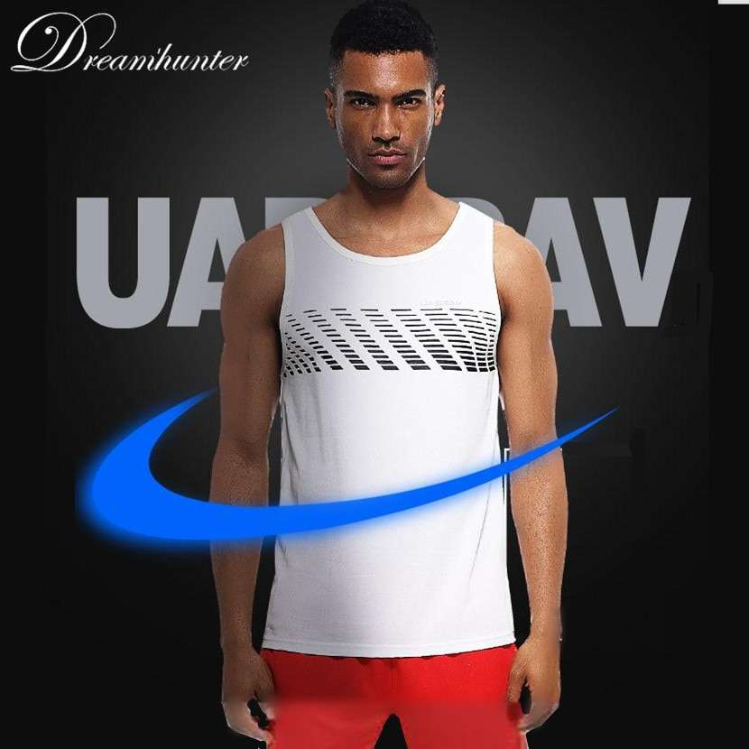 Quick Dry Sports Fitness Running Tank Tops Men Summer Vest Fitness Sleeveless Undershirts Male Gym Loose