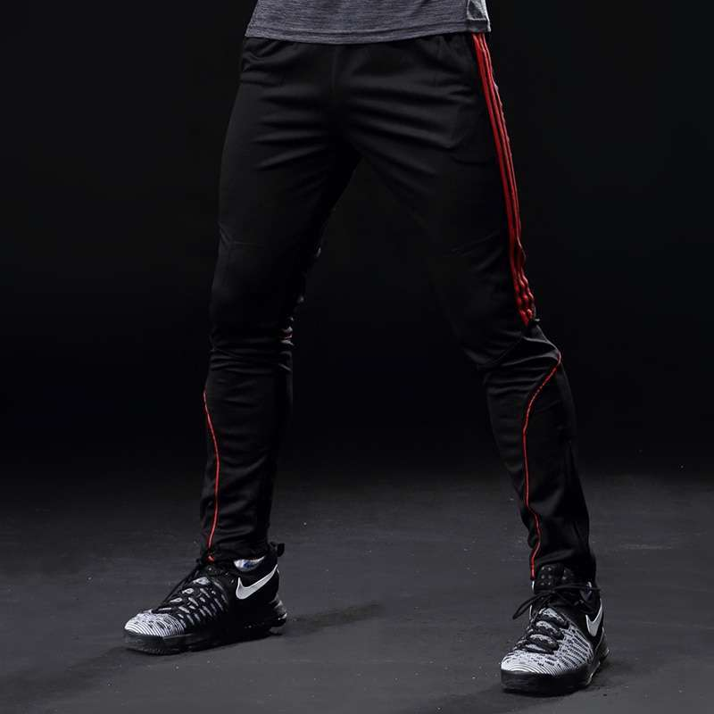 Sport Running Pants Men With Pockets Athletic Football Soccer Training Pants Elasticity Legging jogging Gym Trousers 3