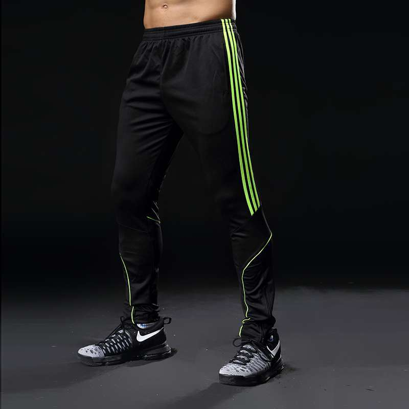 Sport Running Pants Men With Pockets Athletic Football Soccer Training Pants Elasticity Legging jogging Gym Trousers 5
