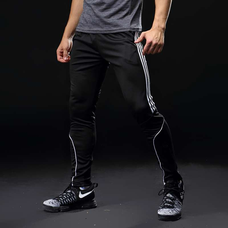 Sport Running Pants Men With Pockets Athletic Football Soccer Training Pants Elasticity Legging jogging Gym Trousers
