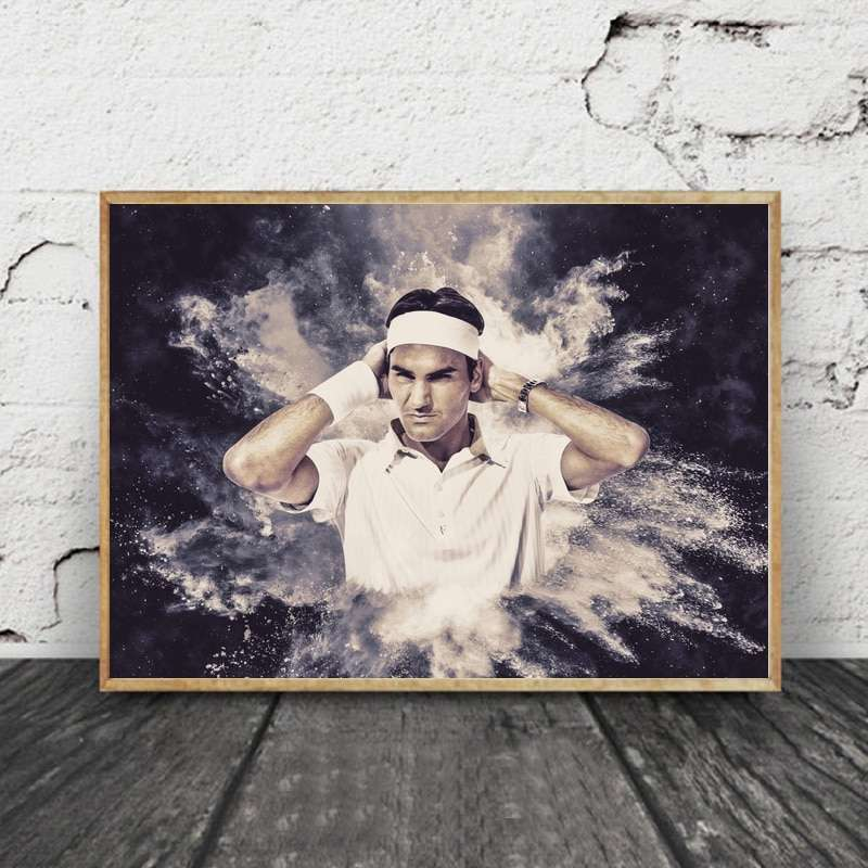 Roger Federer Tennis Star Canvas Posters Painting Wall Art Decorative Home Decor 1