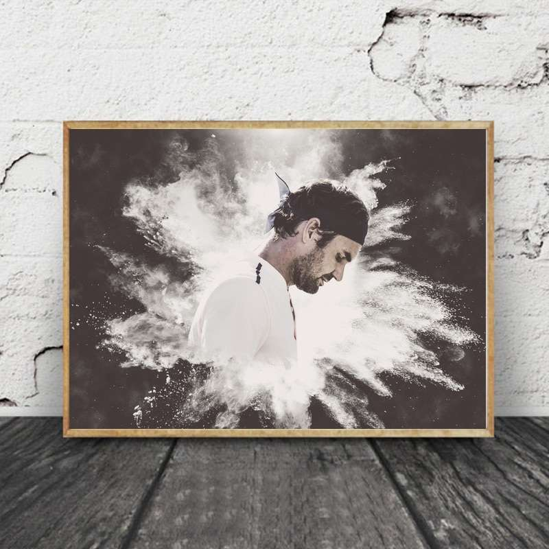 Roger Federer Tennis Star Canvas Posters Painting Wall Art Decorative Home Decor