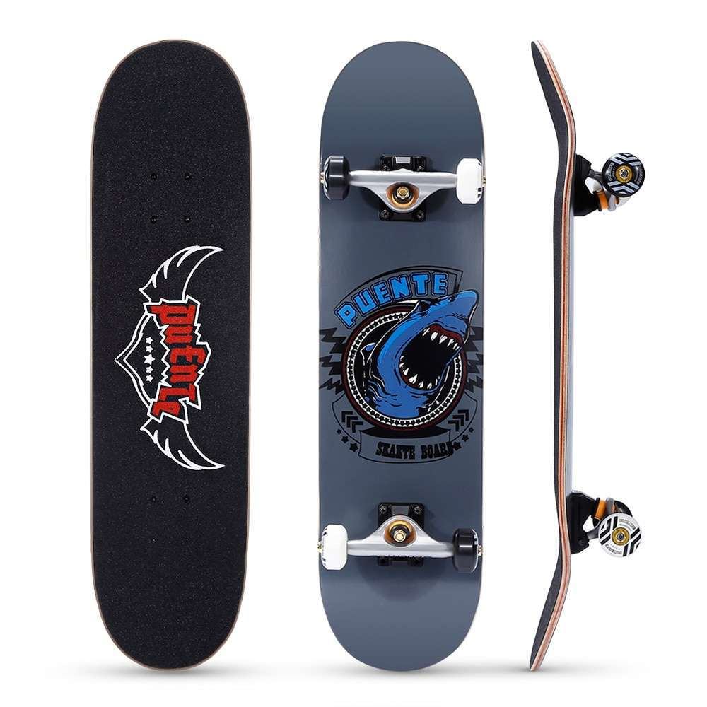 0 PUENTE 608 Skate board ABEC 9 Adult Four wheel Double Snubby Maple Skateboard With 7 layer