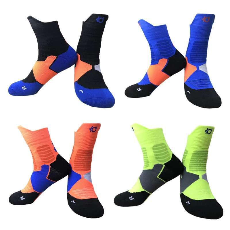 1 Pair of Unisex Outdoor Sports Socks Anti slip Towel Thickened Basketball Running Personal Stylish Colorful 1