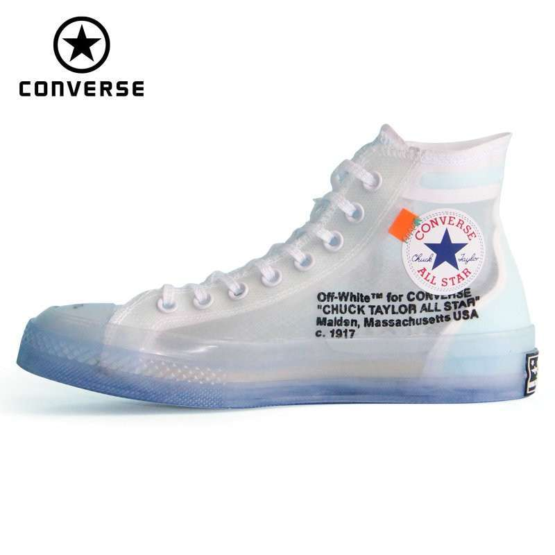 1970s Original Converse OFF WHITE lucency all star Vintage shoes men and women unisex sneakers Skateboarding