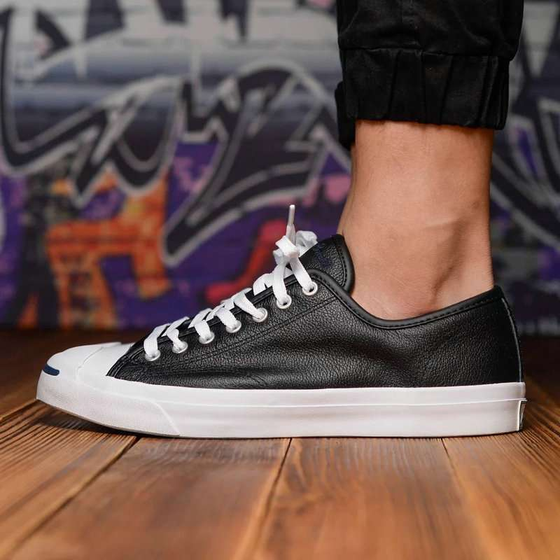 2017 new Original Converse JACK PURCELL sneakers shoes man and women Unisex PU Leather black color 1