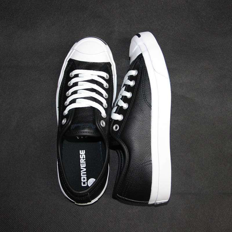 2017 new Original Converse JACK PURCELL sneakers shoes man and women Unisex PU Leather black color 2