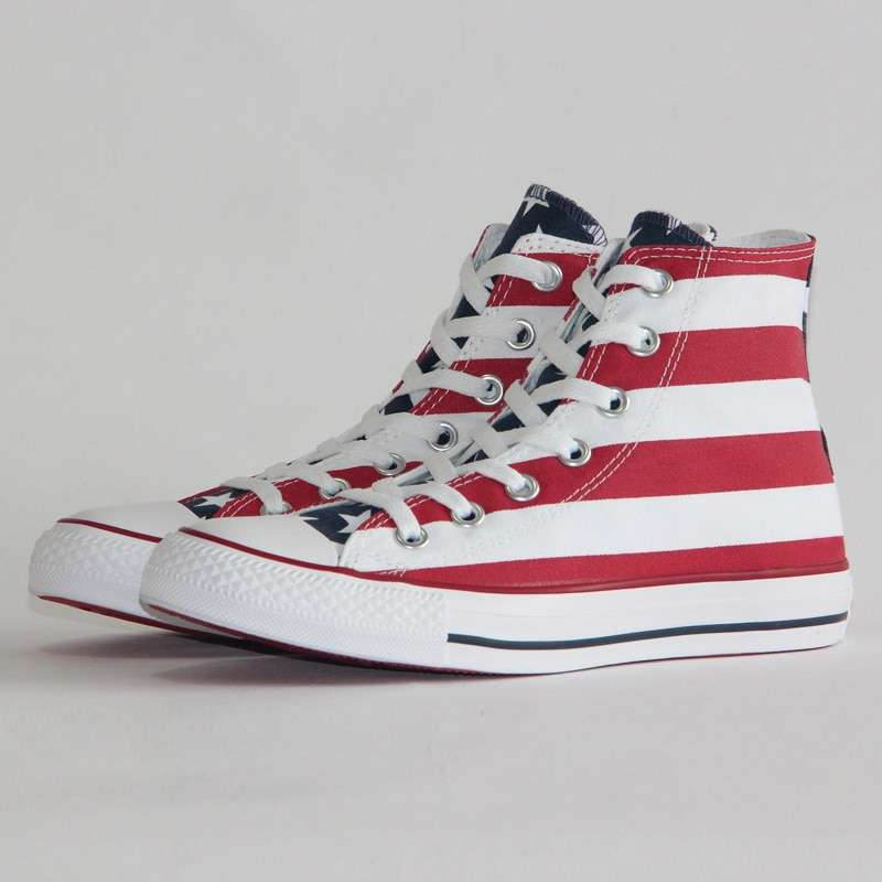 2019 NEW CONVERSE Original The national flag design shoes All Star man women unisex high sneakers 2