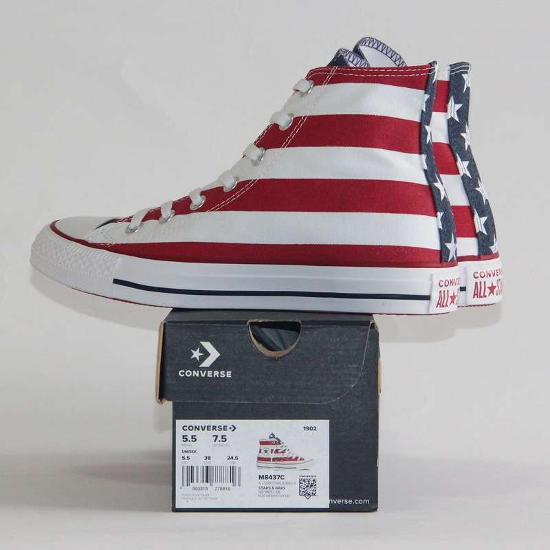 2019 NEW CONVERSE Original The national flag design shoes All Star man women unisex high sneakers 3