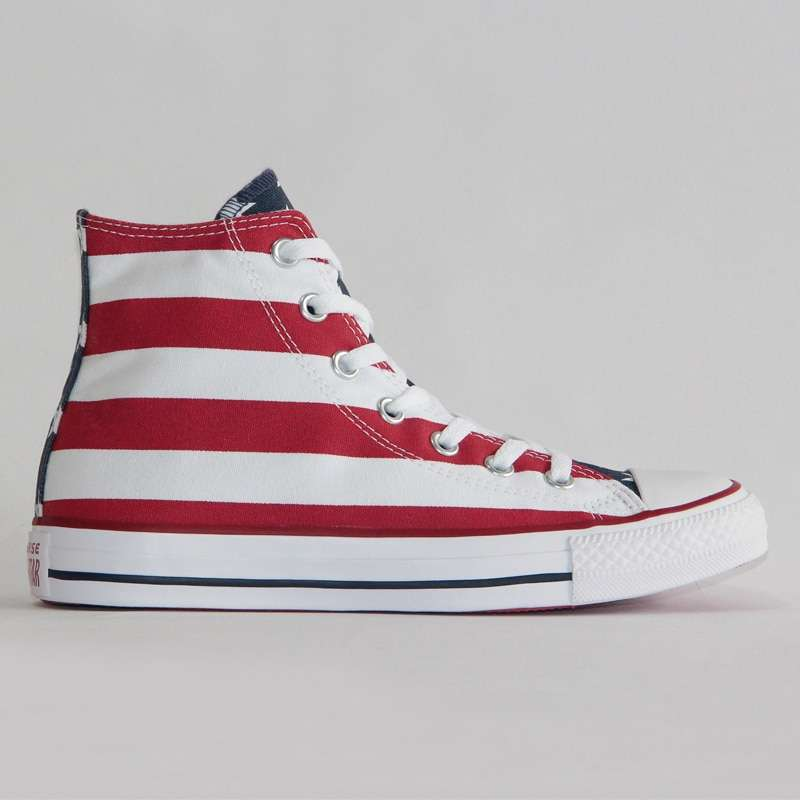2019 NEW CONVERSE Original The national flag design shoes All Star man women unisex high sneakers 4