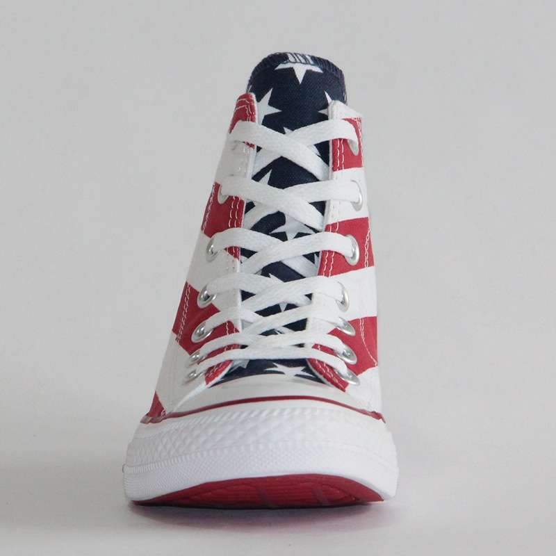 2019 NEW CONVERSE Original The national flag design shoes All Star man women unisex high sneakers 5