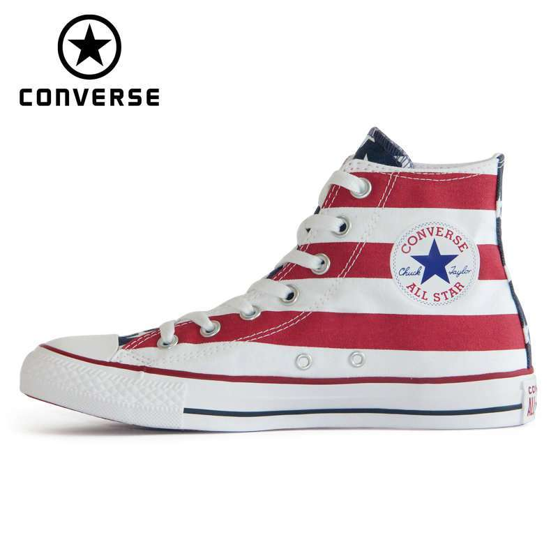 2019 NEW CONVERSE Original The national flag design shoes All Star man women unisex high sneakers