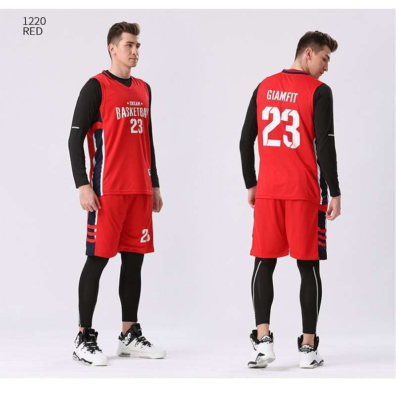 2 4PCS Set Winter Basketball Jersey With Compression Tights Mens Sports Tights Sports Jerseys Basketball Shirt Fitness