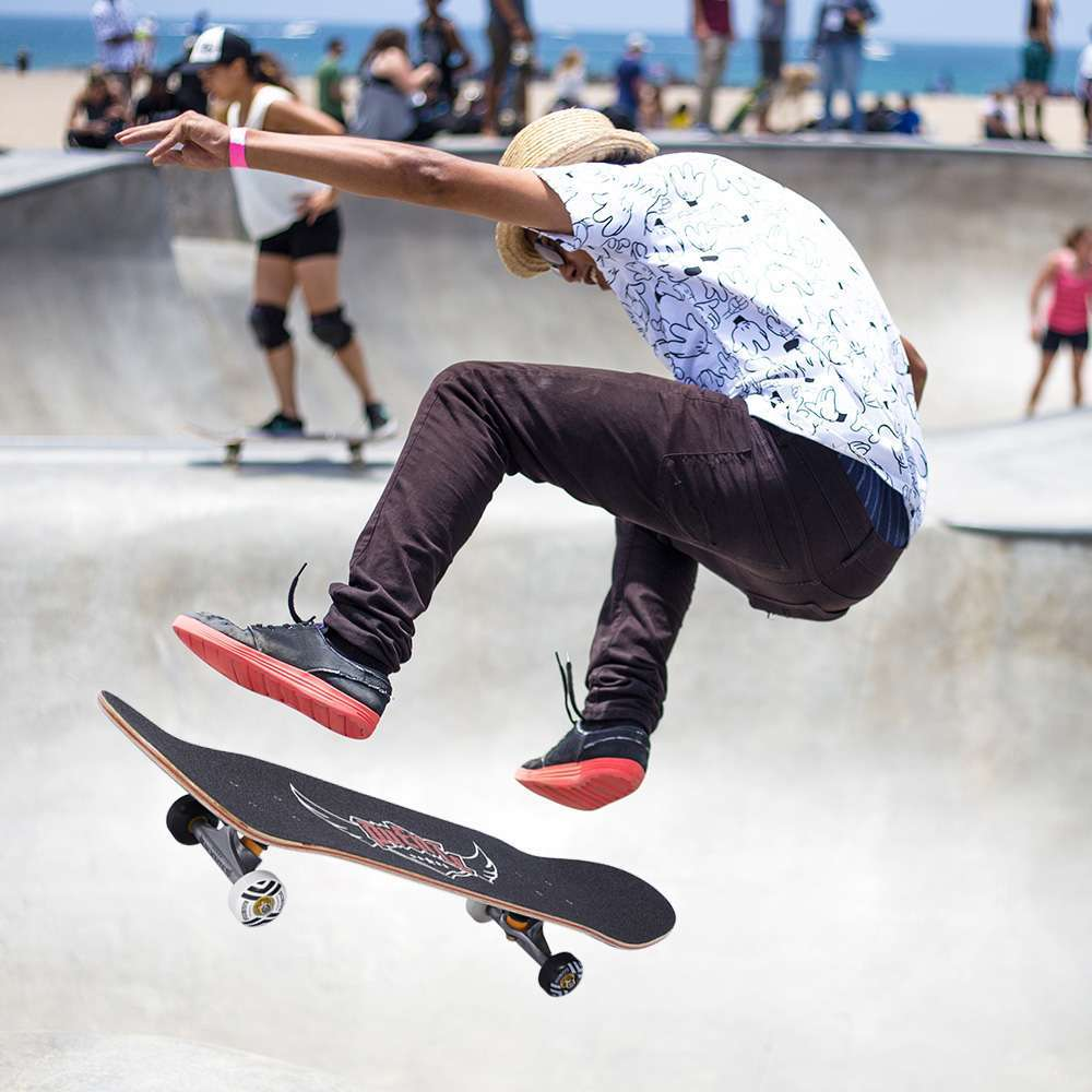 5 PUENTE 608 Skate board ABEC 9 Adult Four wheel Double Snubby Maple Skateboard With 7 layer