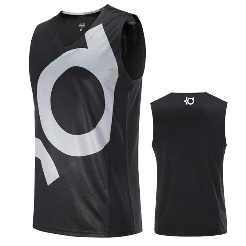 Asian Size Basketball Jerseys KI KD Curry KB Breathable Elastic Sports Training Competition Shirts 1