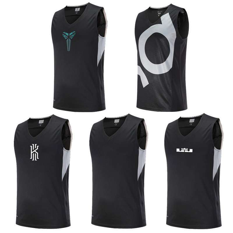 Asian Size Basketball Jerseys KI KD Curry KB Breathable Elastic Sports Training Competition Shirts