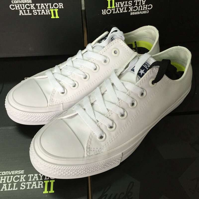 Converse Chuck Taylor II 2016 new All Star unisex low sneakers canvas shoes Classic pure color 2