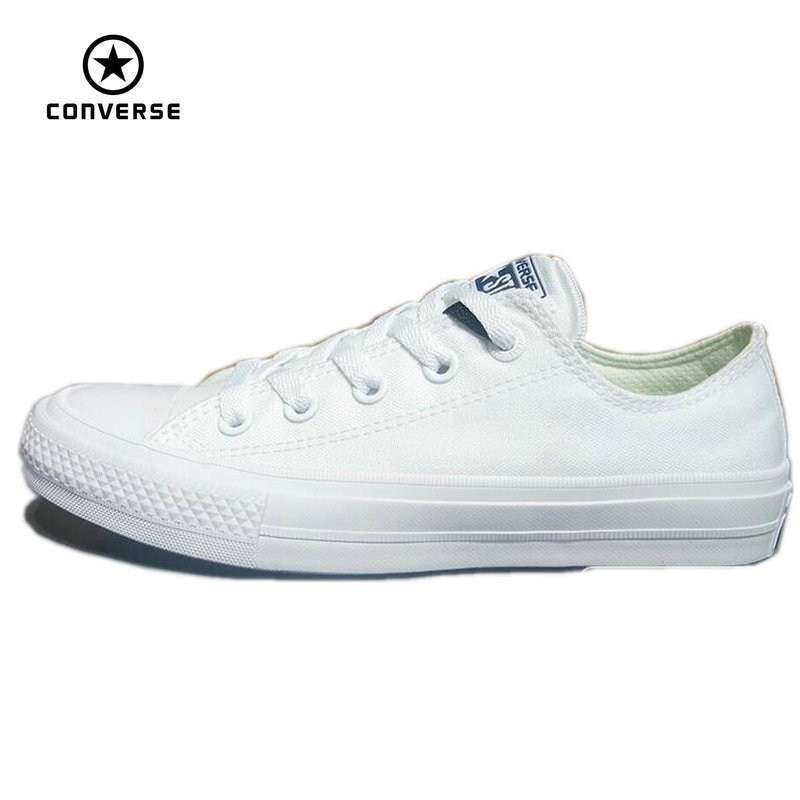 Converse Chuck Taylor II 2016 new All Star unisex low sneakers canvas shoes Classic pure color